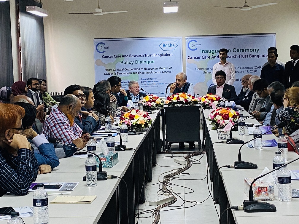 "A Policy Dialogue named "" Multi-Sectoral Cooperation to Reduce the Burden of Cancer in Bangladesh and Ensuring Patients Access"""